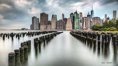 Photograph - Reflections Of Lower Manhattan by Walt Baker