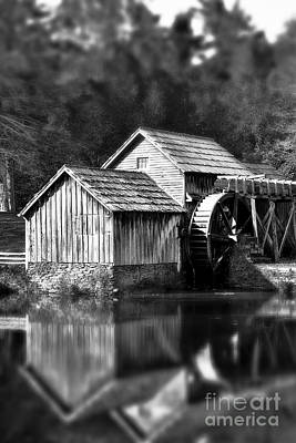 Photograph - Reflections Of Mabry Mill by Kelly Nowak