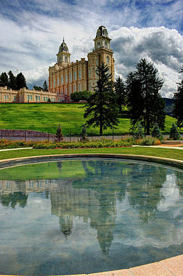 Photograph - Reflections Of Manti Temple by Dane Shakespear