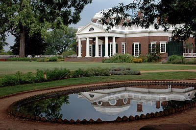 Reflections Of Monticello Art Print