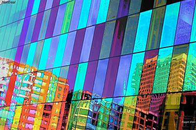 Montreal Buildings Digital Art - Reflections Of Montreal by Margaret Shaw