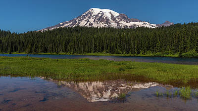 Photograph - Reflections Of Mount Rainier by Brenda Jacobs