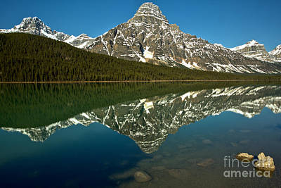 Photograph - Reflections Of Mt. Chephren by Adam Jewell