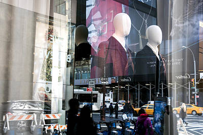 Photograph - Reflections Of New York by Allen Carroll