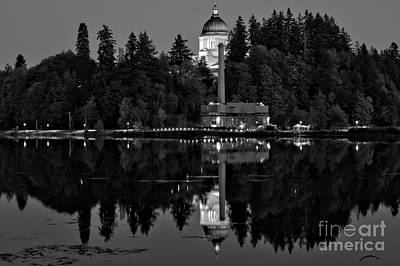 Photograph - Reflections Of Olympia - Black And White by Adam Jewell