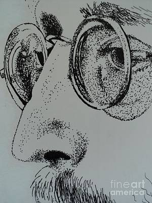 Drawing - Reflections Of Peace John Lennon by Carla Carson