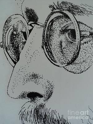 Lennon Drawing - Reflections Of Peace John Lennon by Carla Carson