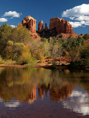 Reflections Of Sedona Art Print by Joshua House