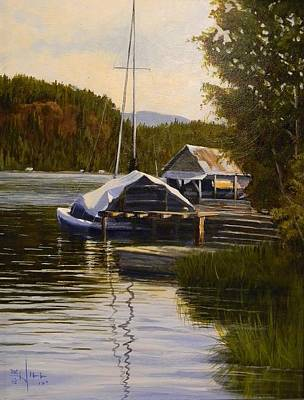 Painting - Reflections Of Summer by Paul K Hill