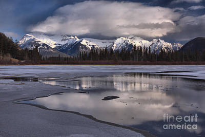 Photograph - Reflections Of The Banff Clouds And Mountains by Adam Jewell