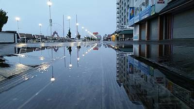 Photograph - Reflections Of The Boardwalk by Robert Banach