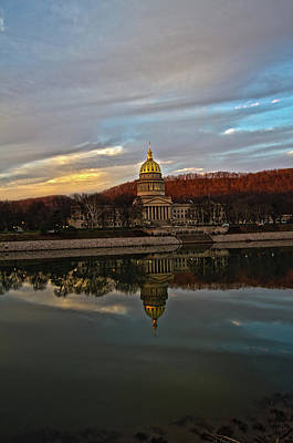 Photograph - Reflections Of The Capitol by Daniel Houghton