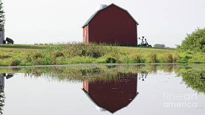 Photograph - Reflections Of The Farm by Erick Schmidt