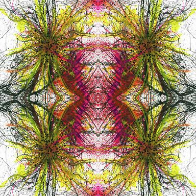 Fireworks Mixed Media - Reflections Of The Inner Light #1515 by Rainbow Artist Orlando L aka Kevin Orlando Lau