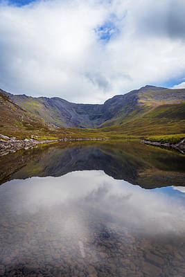 Art Print featuring the photograph Reflections Of The Macgillycuddy's Reeks In Lough Eagher by Semmick Photo