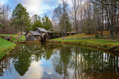 Lakes Photograph - Reflections Of The Mill by Michael Scott