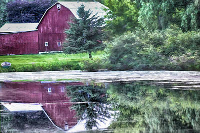 Photograph - Reflections Of The Old Red Barn by Pat Cook