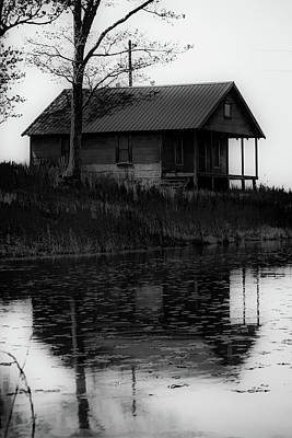 Photograph - Reflections Of The Past - Black And White by Gregory Ballos