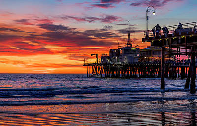Photograph - Reflections Of The Pier by Gene Parks