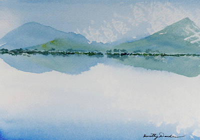 Painting - Reflections Of The Skies And Mountains Surrounding Bathurst Harbour by Dorothy Darden