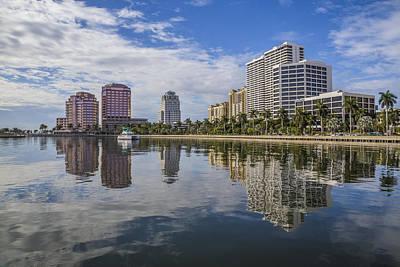 Reflections Of West Palm Beach Art Print