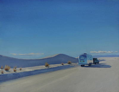 Airstream Painting - Reflections Of White Sands by Elizabeth Jose