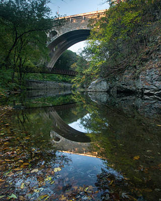 Photograph - Reflections Of Wissahickon Gorge by Jim Cheney