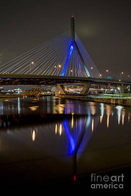 Photograph - Reflections Of Zakim Bridge by Kimberly Nyce