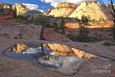 Photograph - Reflections Of Zion East by Adam Jewell