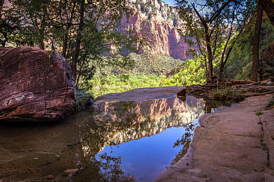 Photograph - Reflections Of Zion by Scott Harris