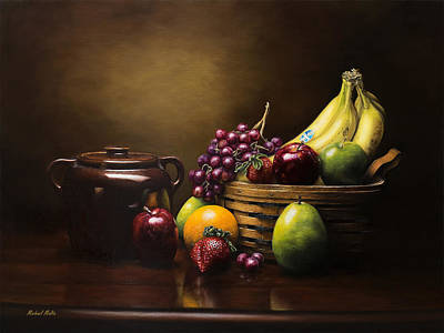 Green Beans Painting - Reflections On A Bean Pot by Michael Malta