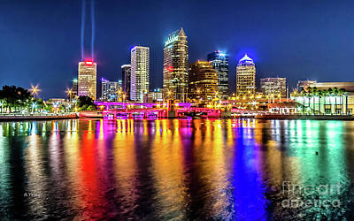 Photograph - Tampa Reflections On A Clear Night by Rene Triay Photography