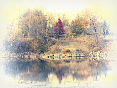 Fort Collins Photograph - Reflections On A Pond - 2 by Diane M Dittus