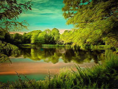Reflections On A Pond Print by Anthony Caruso