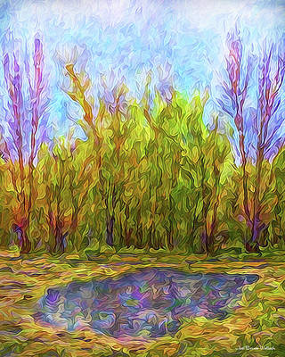Digital Art - Reflections On A Purple Day by Joel Bruce Wallach