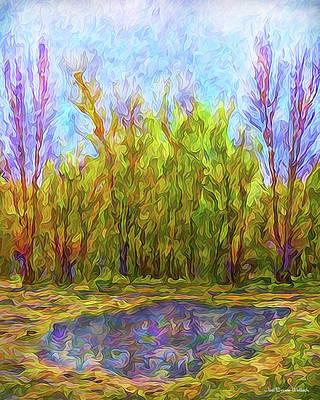 Digital Art - Reflections On A Purple Day by Joel Bruce Wallach