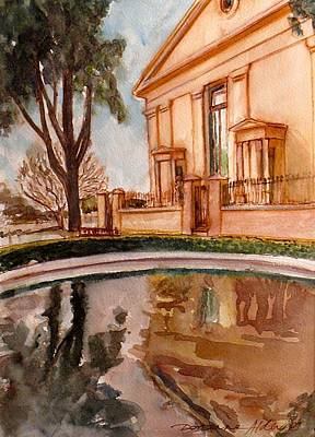 Reflections On A Rainy Day Art Print by Doranne Alden