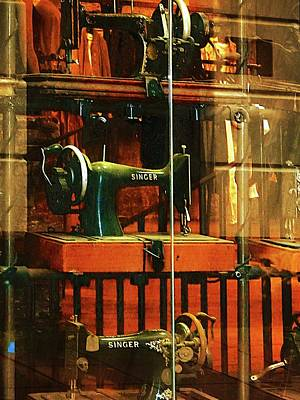 Ancient Thread Photograph - Reflections On A Sewing Machine by Dorothy Berry-Lound