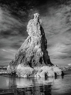 Photograph - Reflections On An Infrared Sea Stack by Greg Nyquist