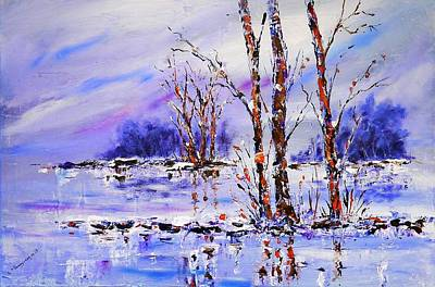 Painting - Reflections On Blue by Joy of Life Art