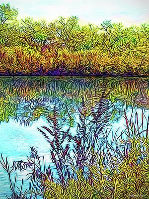 Digital Art - Reflections On Crystal Waters by Joel Bruce Wallach