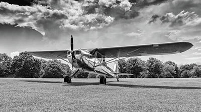 Photograph - Reflections On Grass - 2018 Christopher Buff, Www.aviationbuff.c by Chris Buff
