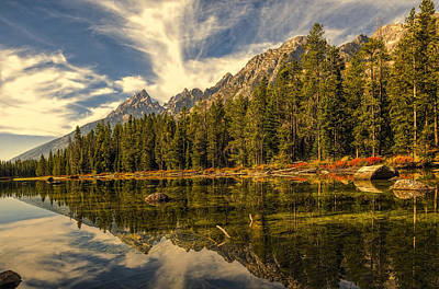 Photograph - Reflections On Jenny Lake by Maria Coulson