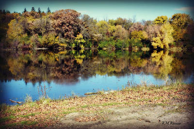 Photograph - Reflections On Kennedy Lake by Kathy M Krause