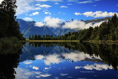 Photograph - Reflections On Lake Matheson by Kay Kochenderfer