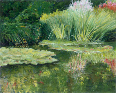 Painting - Reflections On Monets Lily Pond by Tara Moorman