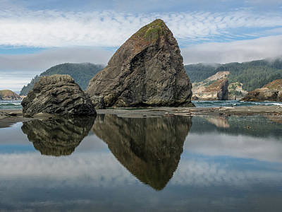 Photograph - Reflections On Oregon Seastacks 1 by Greg Nyquist