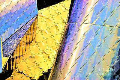 Reflections On Peter B. Lewis Building, Cleveland2 Art Print