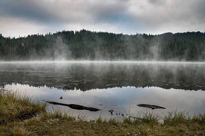 Photograph - Reflections On Reflection Lake 2 by Greg Nyquist