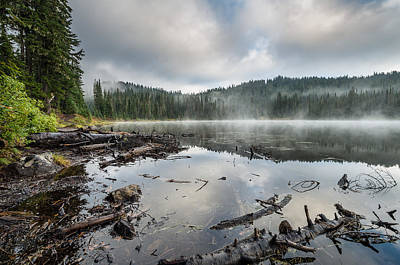 Photograph - Reflections On Reflection Lake 4 by Greg Nyquist